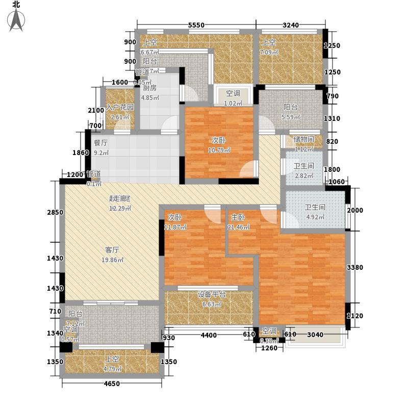 首创德尔菲谷129.63㎡三期13号楼平层1单元3-23室户型