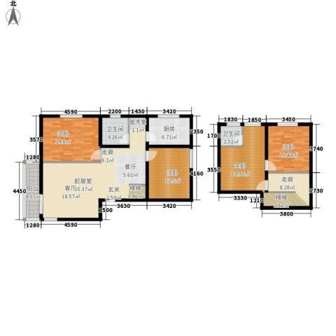 印象欧洲4室0厅2卫1厨163.00㎡户型图