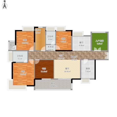 港口国际4室1厅2卫1厨195.00㎡户型图