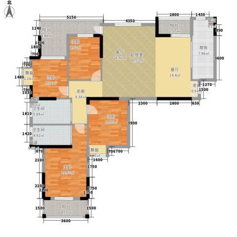 咸宁中央城4室0厅2卫1厨179.00㎡户型图