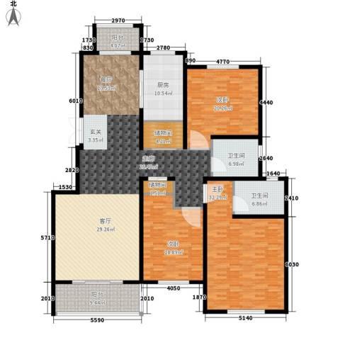 凤凰城3室0厅2卫1厨130.00㎡户型图