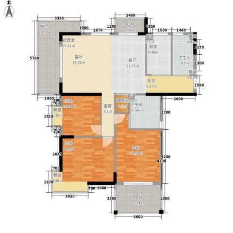 咸宁中央城3室0厅2卫1厨162.00㎡户型图