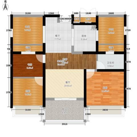 金通黄金海岸3室0厅1卫1厨89.00㎡户型图