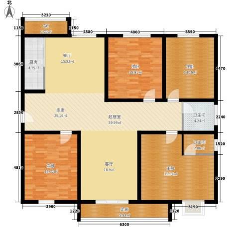 未来花园4室0厅2卫1厨185.00㎡户型图