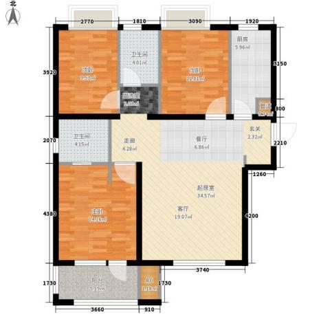 荣盛阳光逸墅3室0厅2卫1厨102.00㎡户型图
