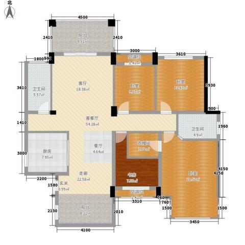 航空母舰1室1厅2卫1厨196.00㎡户型图