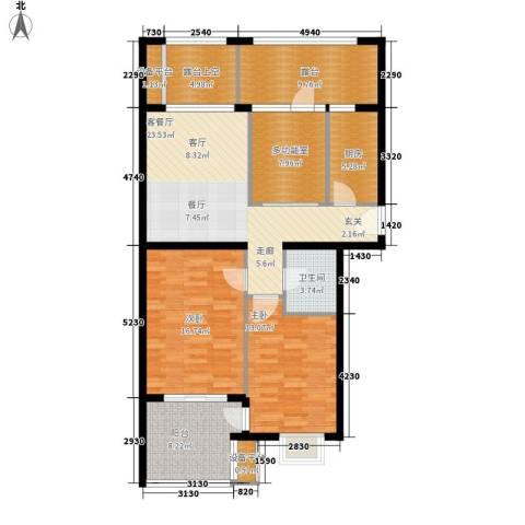 永康城市花园2室1厅1卫1厨106.00㎡户型图