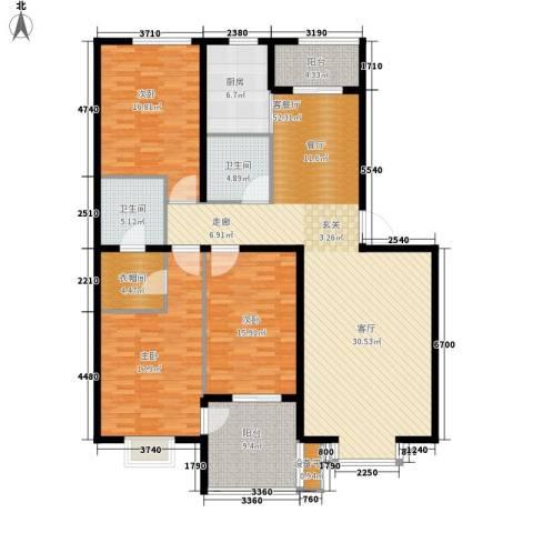 永康城市花园3室1厅2卫1厨194.00㎡户型图
