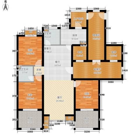 永康城市花园3室1厅2卫1厨164.00㎡户型图