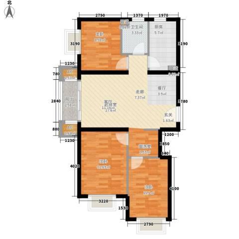 sala私人酒店3室0厅1卫1厨104.00㎡户型图