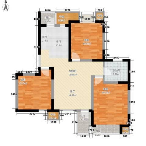 枫尚河院3室1厅1卫0厨107.00㎡户型图