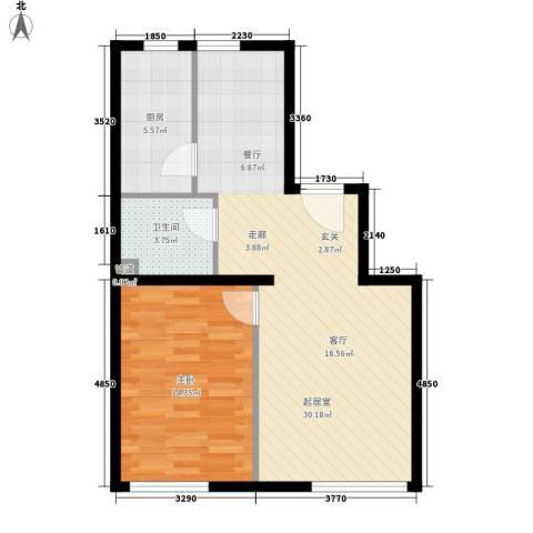 sala私人酒店1室0厅1卫1厨76.00㎡户型图