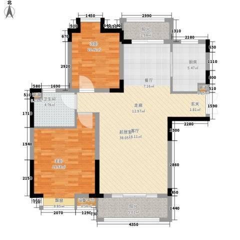禾和湾新城2室0厅1卫1厨96.00㎡户型图