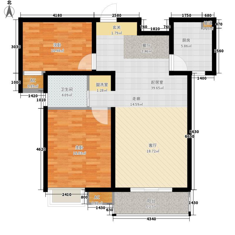 路劲主场95.00㎡B户型2室2厅