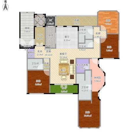 紫竹半岛4室1厅4卫1厨169.00㎡户型图