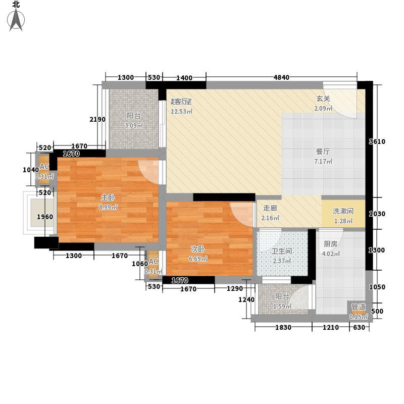 环山国际69.40㎡二期7、8号楼标准层C户型