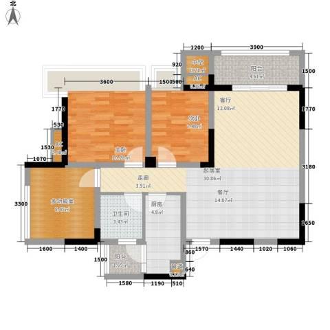 东原黄山大道东2室0厅1卫1厨76.00㎡户型图