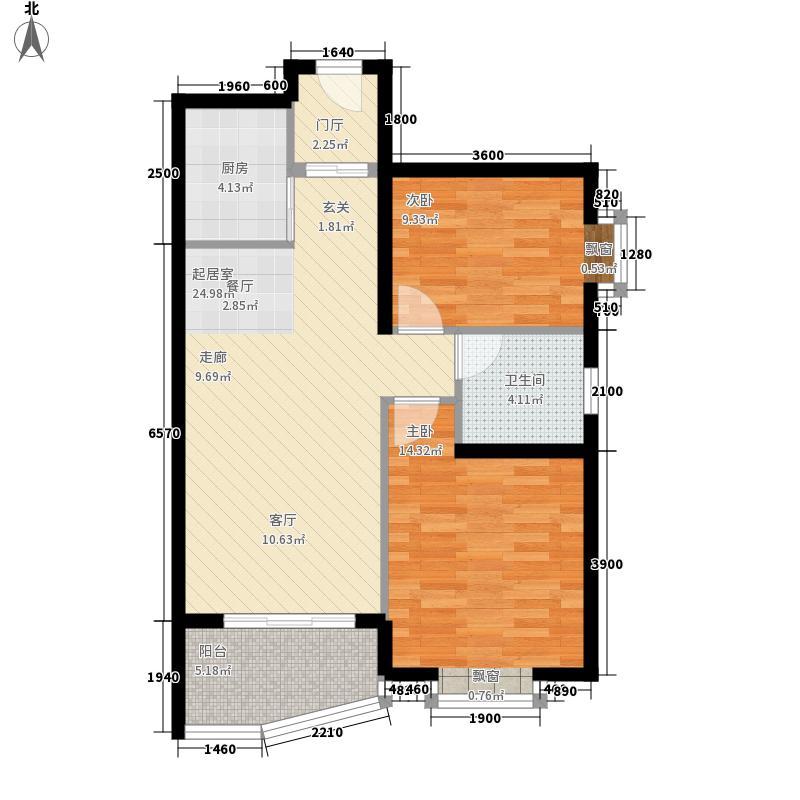 山海湾温泉家园89.72㎡一期5#-10#楼E户型