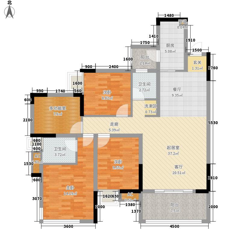 东原黄山大道东104.00㎡二期7号楼面积10400m户型