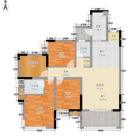 东原黄山大道东3室0厅2卫1厨104.00㎡户型图