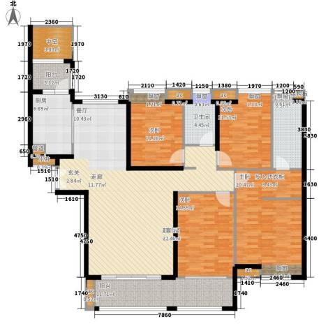 保利国际广场4室0厅2卫1厨164.00㎡户型图