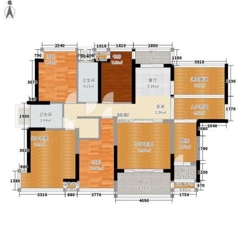 宝嘉上筑3室1厅2卫1厨130.00㎡户型图