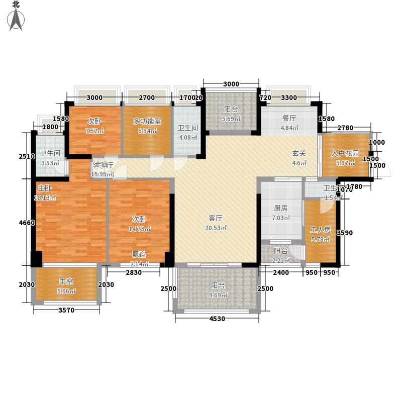 广兴源·圣拿威160.00㎡2栋A+B、D+E偶数层--户型4室2厅