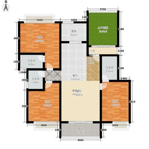 兴业花园3室1厅3卫1厨199.00㎡户型图