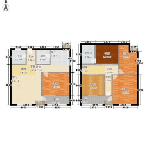 鄂州豪威城市广场4室1厅2卫1厨224.00㎡户型图
