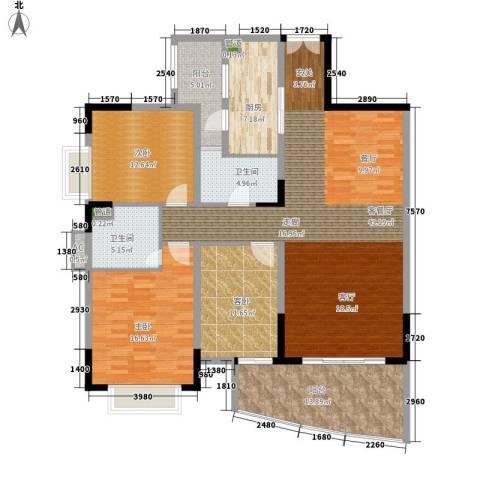 东山紫园3室1厅2卫1厨139.00㎡户型图