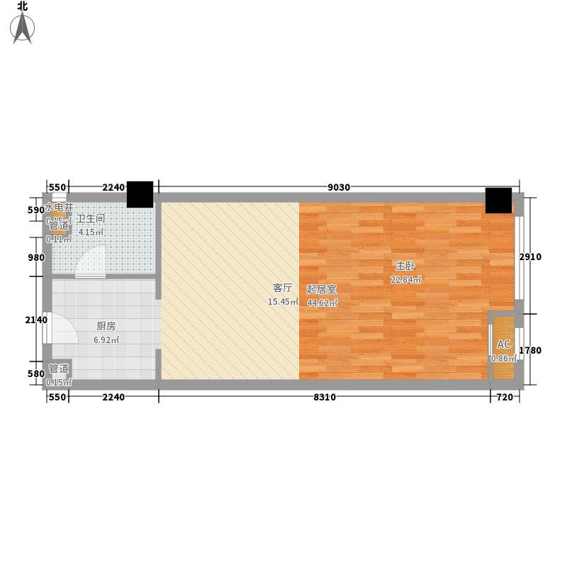 凯润金城56.00㎡三期3号楼标准层面积5600m户型
