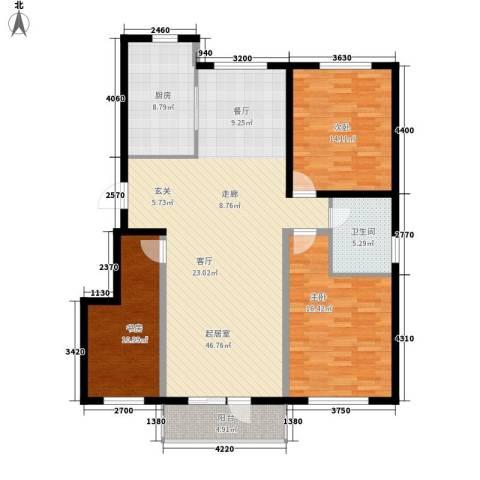 华誉・金御蓝湾3室0厅1卫1厨128.00㎡户型图