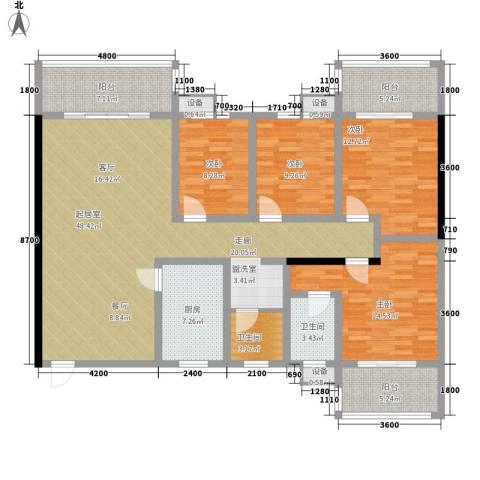 嘉盛逸林园4室0厅2卫1厨160.00㎡户型图