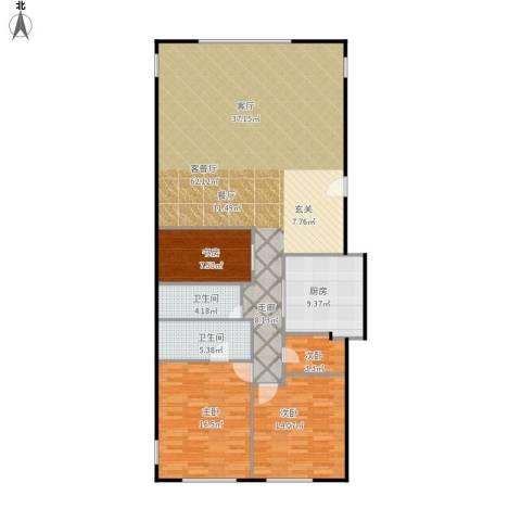 东城逸墅4室1厅2卫1厨163.00㎡户型图