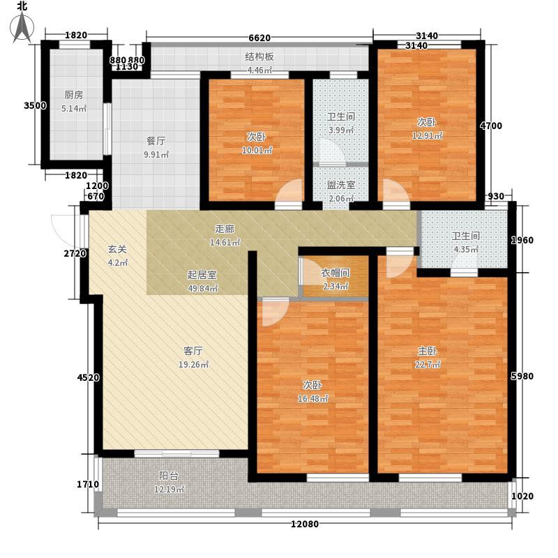 鑫苑现代城175.87㎡3#33层D1a面积17587m户型
