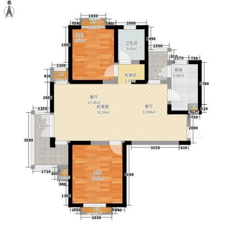 红磡领世郡2室0厅1卫1厨107.00㎡户型图