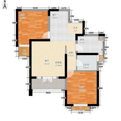 红磡领世郡2室0厅1卫1厨99.00㎡户型图
