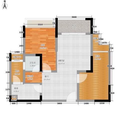 东邦城市花园1室0厅1卫1厨72.00㎡户型图