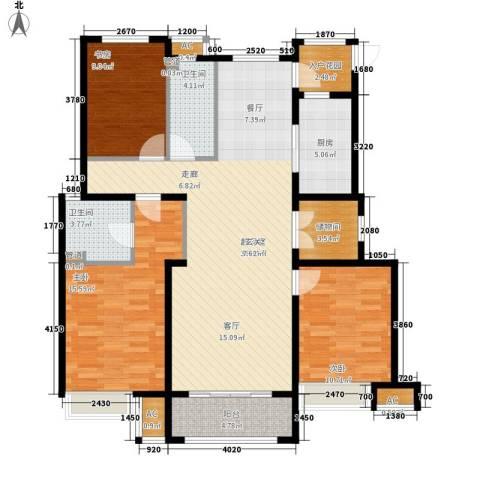 香邑廊桥3室0厅2卫1厨139.00㎡户型图