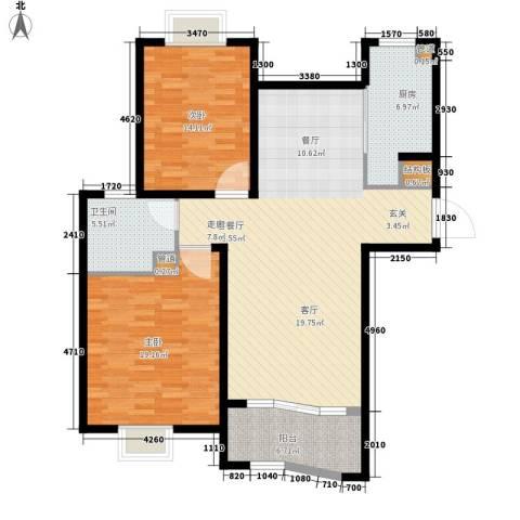 南星花园2室1厅1卫1厨110.00㎡户型图