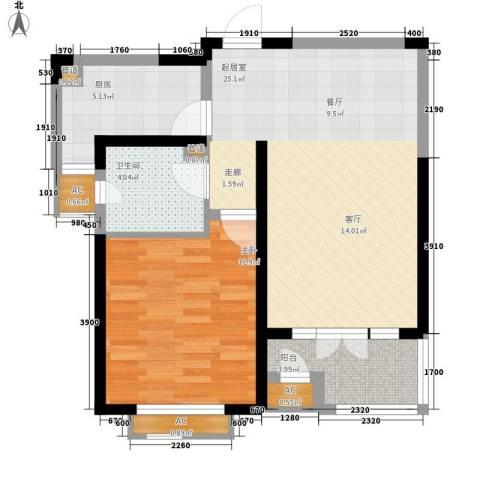 红磡领世郡1室0厅1卫1厨78.00㎡户型图