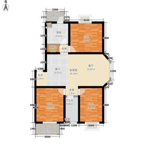 金厦新都庄园3室0厅1卫1厨133.00㎡户型图