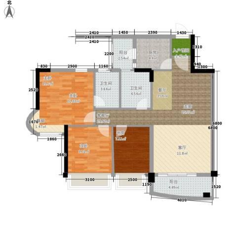 雅居乐・青花南湖3室1厅2卫1厨114.00㎡户型图