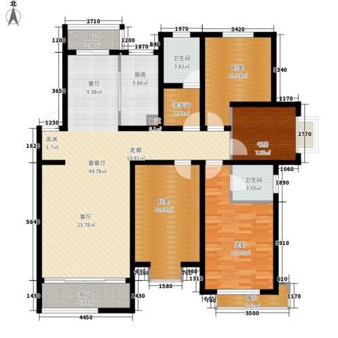 海通・时代康桥1期2室1厅2卫1厨174.00㎡户型图