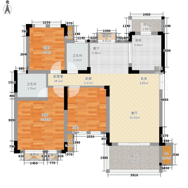同创高原99.00㎡时尚洋房C6面积9900m户型
