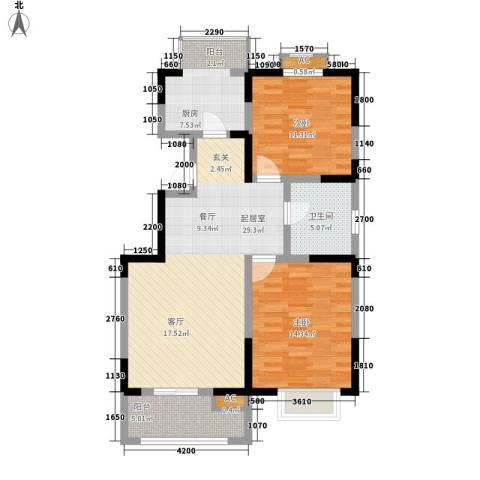 红磡领世郡2室0厅1卫1厨106.00㎡户型图