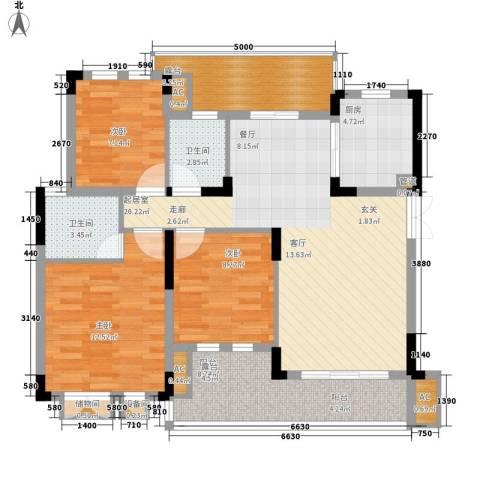 同创高原3室0厅2卫1厨96.00㎡户型图