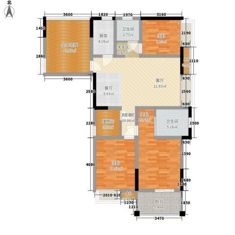 钜和天乐苑3室0厅2卫1厨115.33㎡户型图