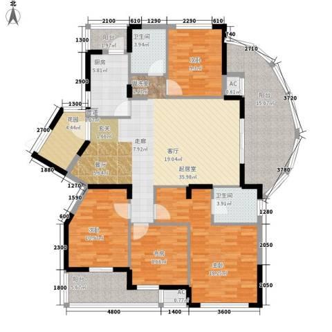 升华公园懿品4室0厅2卫1厨179.00㎡户型图