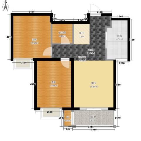 橄榄绿洲2室0厅1卫1厨104.00㎡户型图
